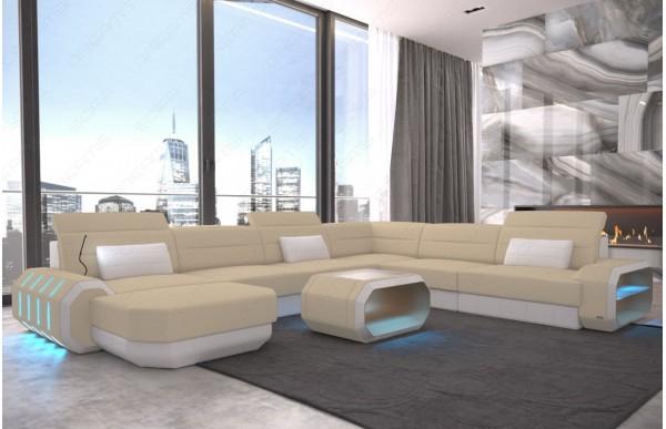 ROMA - kształt XL, układ lewy, materiał, funkcja leżenia