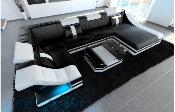 TURINO - U-shape, right orientation, eco leather