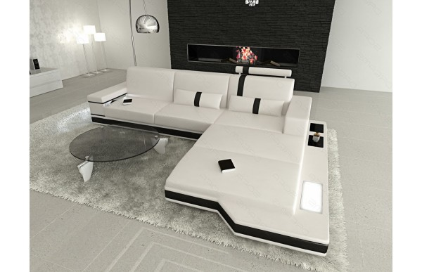 MESSANA - L-shape, right orientation, eco leather, lying...