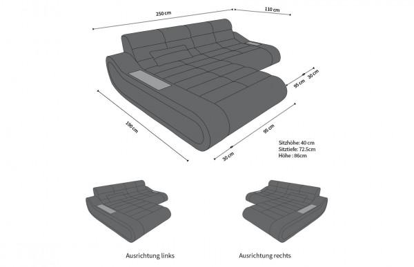 CONCEPT - kształt L, układ prawy, materiał