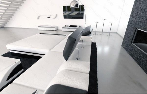 ENZO - kształt XL, układ prawy, skóra, funkcja leżenia