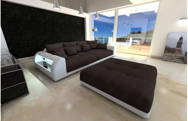 MIAMI (K) - kształt Big Sofa, skóra ekologiczna
