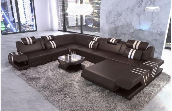 VENEDIG - XL-shape, right orientation, eco leather, lying...