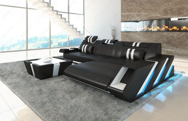 APOLLONIA - L-shape, right orientation, eco leather, lying function