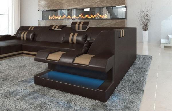 APOLLONIA - U-shape, left orientation, eco leather