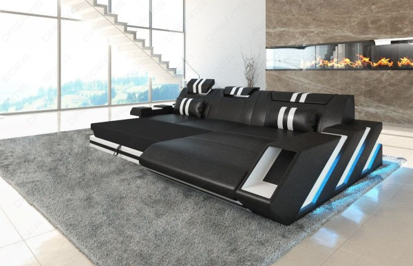 APOLLONIA - L-shape, right orientation, leather, lying function