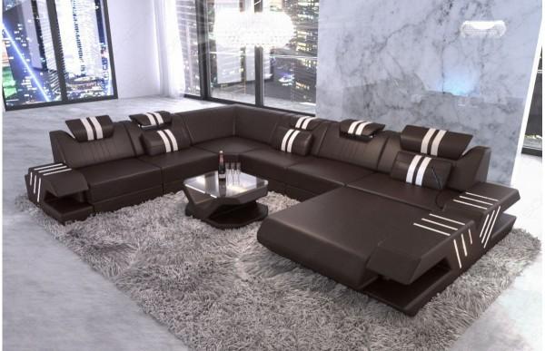 VENEDIG - XL-shape, right orientation, leather, lying...