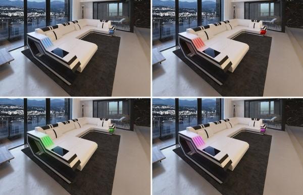 RAVENNA - U-shape, left orientation, textile, lying function