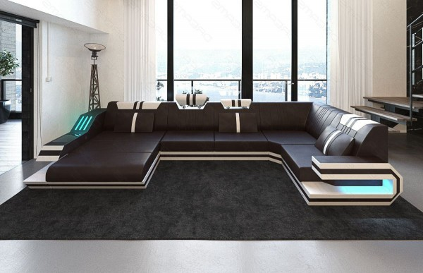 RAVENNA - U-shape, left orientation, leather