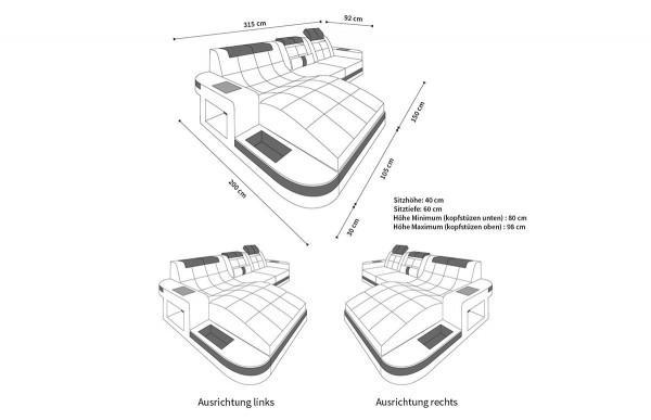 WAVE - L-shape, left orientation, eco leather