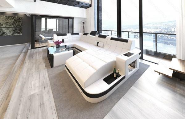 WAVE - U-shape, right orientation, eco leather, lying...