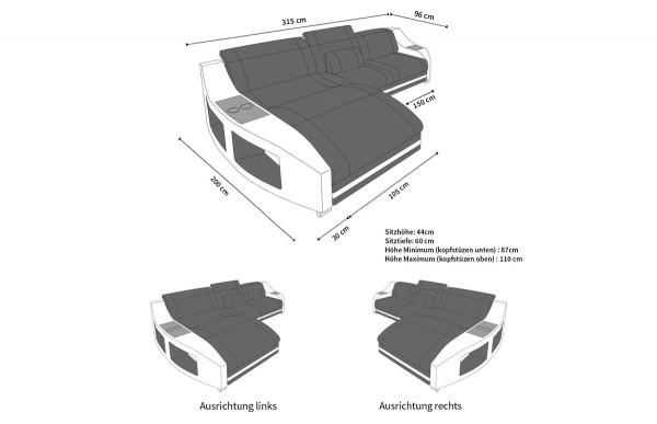 SWING - kształt L, układ prawy, materiał