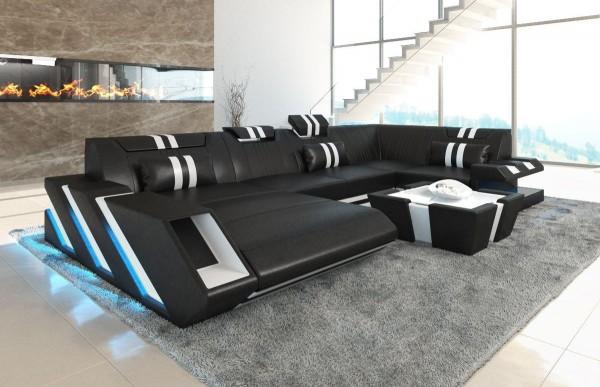APOLLONIA (K) - U-shape, left orientation, eco leather