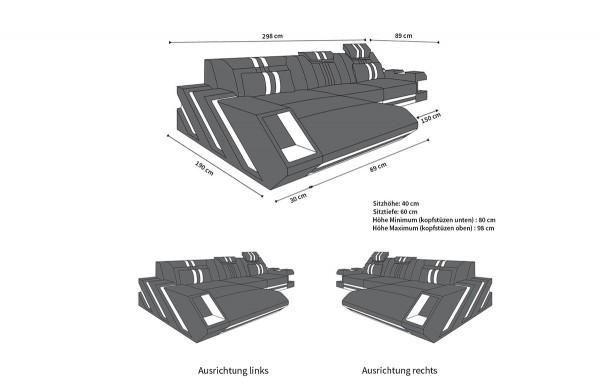APOLLONIA - L-shape, left orientation, textile