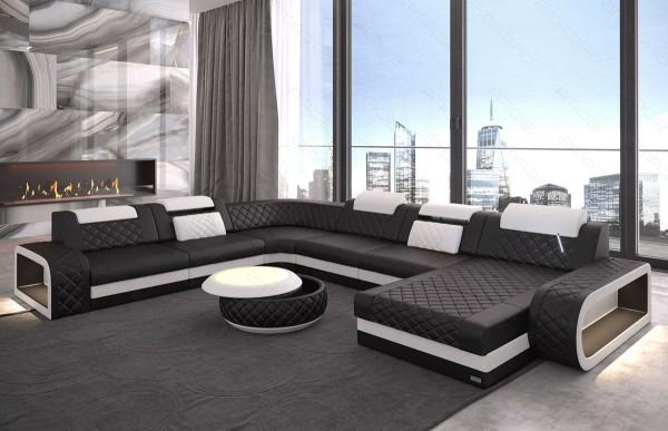 BERLIN (K) - XL-shape, right orientation, leather, lying function
