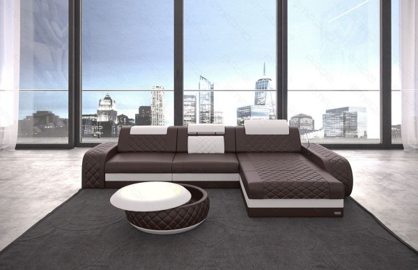 BERLIN - L-shape, right orientation, eco leather, lying function