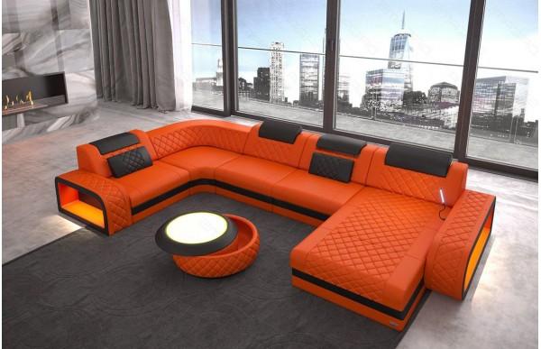BERLIN - U-shape, right orientation, leather, lying function