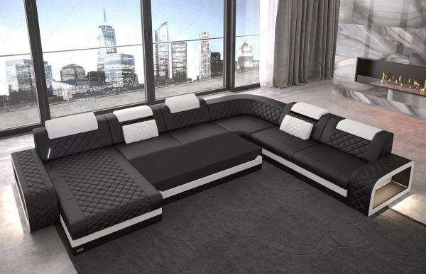 BERLIN - XL-shape, left orientation, eco leather, lying function