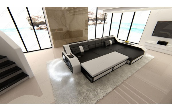 AREZZO - L-shape, right orientation, eco leather, lying function
