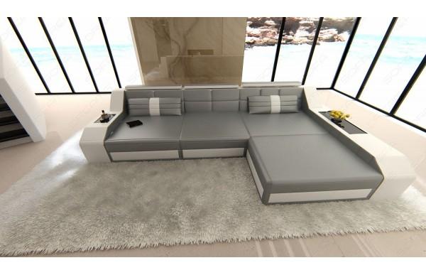 AREZZO - L-shape, right orientation, eco leather