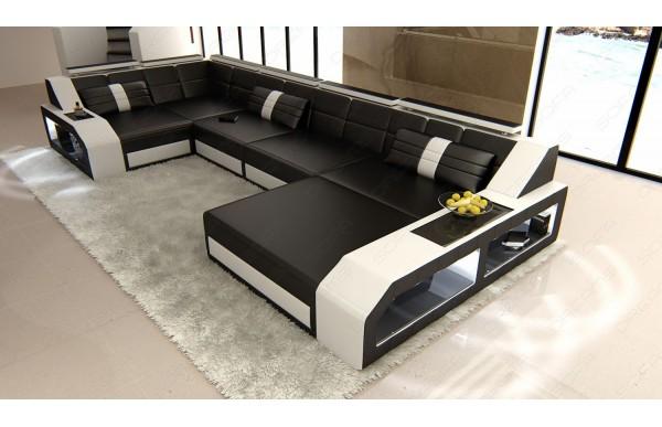 AREZZO - U-shape, right orientation, leather, lying function