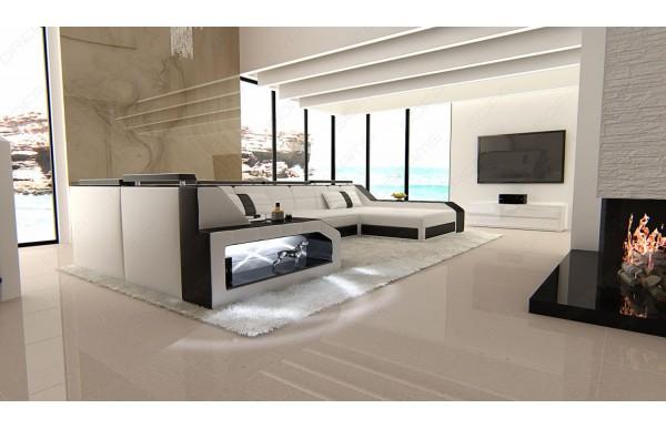 AREZZO - U-shape, right orientation, eco leather, lying function